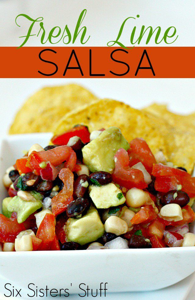 Fresh Lime Salsa from SixSistersStuff.com. The most delicious way to eat your vegetables!