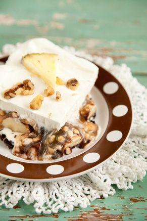 Paula Deen Frozen Banana Split - made with ice cream sandwiches, bananas,