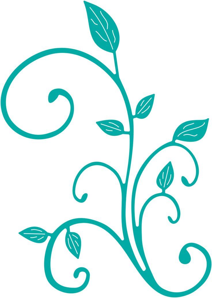 """Cheery Lynn Designs - Fanciful Flourish Left - B292, $9.95 (3-1/2"""" x 4-1/2"""")"""