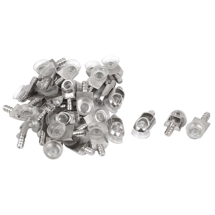 Unique Bargains Cabinet Glass Suction Cup 5mm Pin Shelf Support Bracket Holder 30pcs