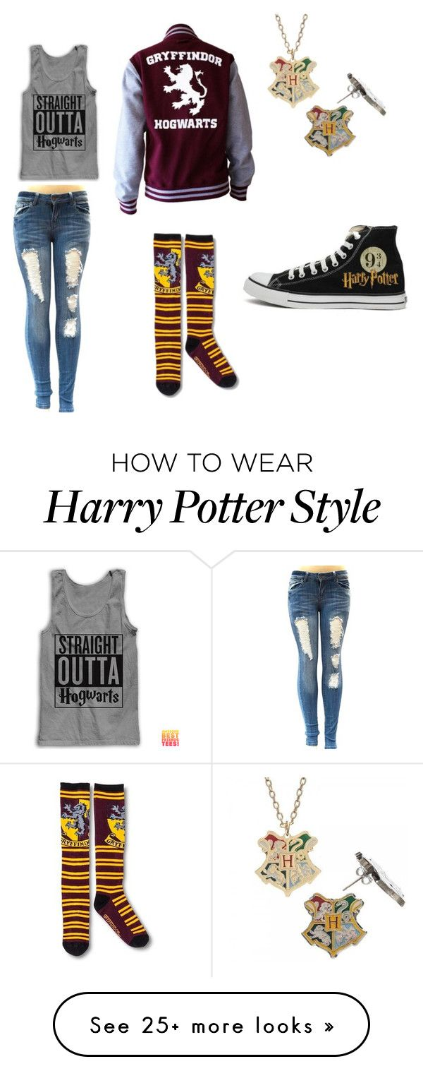 """""""Harry Potter"""" by cakelover19 on Polyvore featuring Converse"""