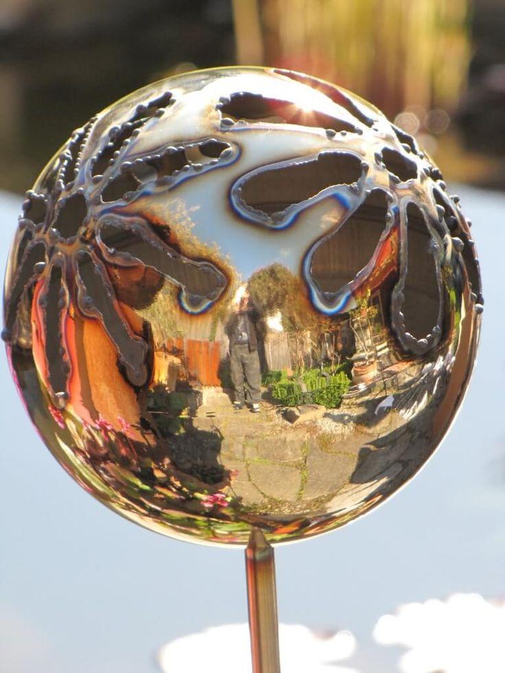 Gartendeko Edelstahl Gartenstecker ~ Edelstahl Gartenstecker Feuerfratze Blume Eine tolle Gartendeko stellt