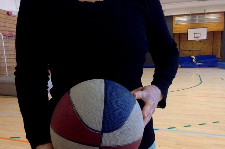 ^that is actually a netball, smaller than a basketball...I was playing basketball but took the photo to show what a netball is