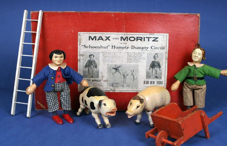 *MAX and MORITZ ~ are the early two-part head Max + Moritz set.