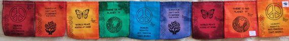 Rainbow Peace Prayer Flag. The Opposite of by GuerillaPrayerFlags