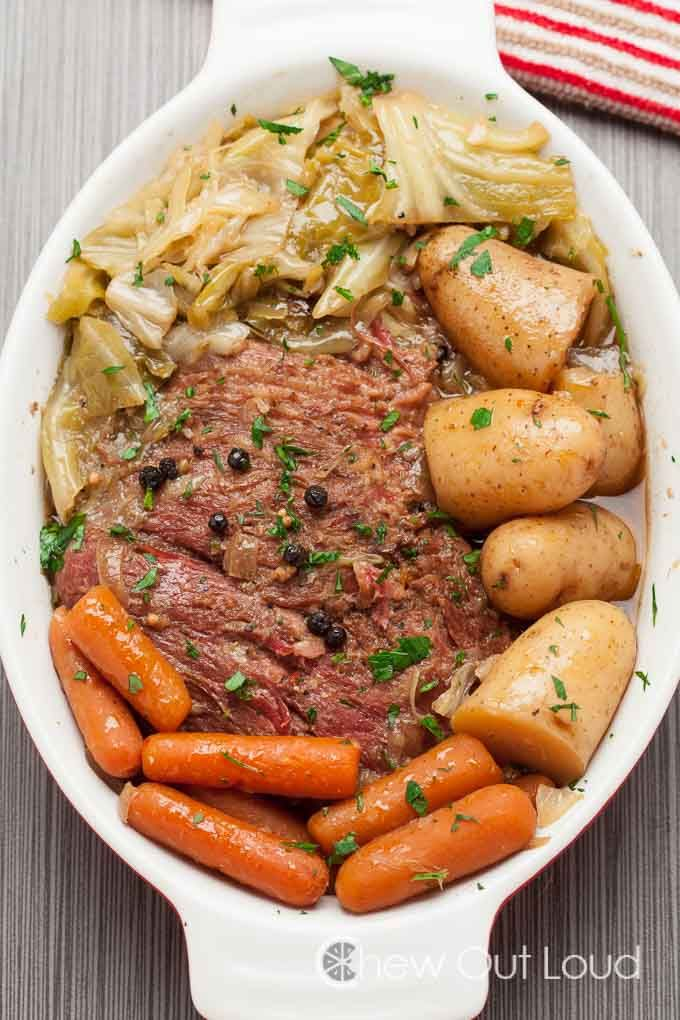 Slow Cooker Corned Beef with Cabbage. So easy, incredibly fork-tender, and succulent. Not just for St. Patty's anymore.