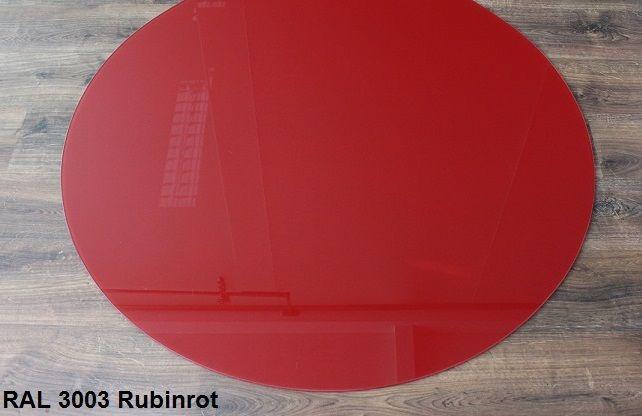 Farbige Funkenschutzplatte aus Glas