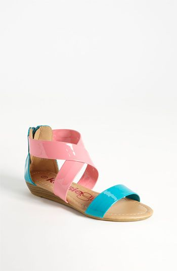 Kensie Girl Two Tone Cross Strap Sandal (Toddler, Little Kid & Big Kid) available at Nordstrom