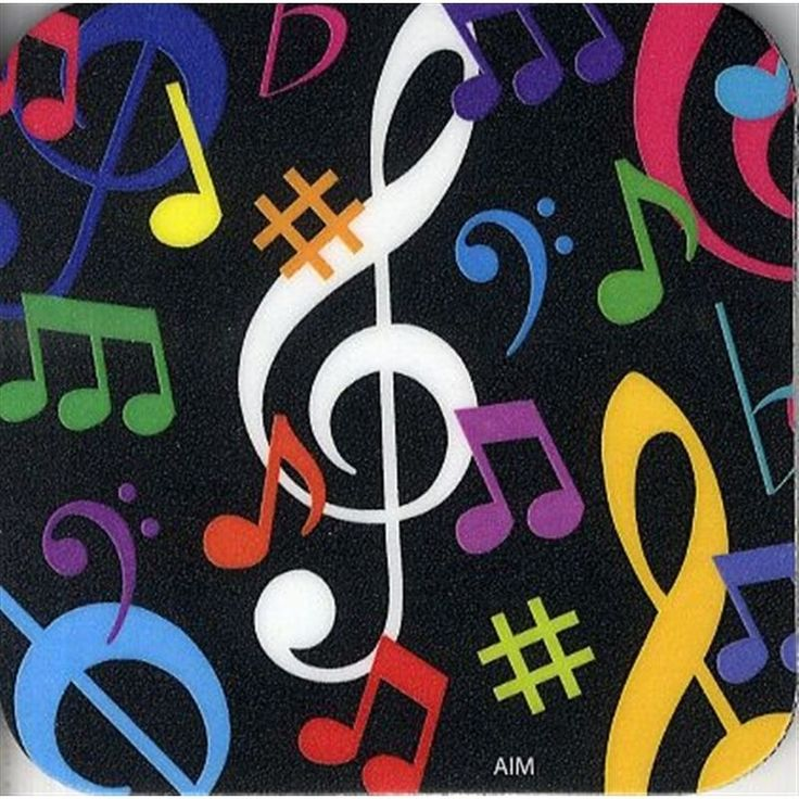 Elevenfy | Coaster  -  Music Notes Multi - Colour