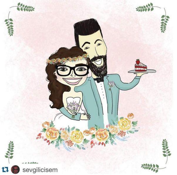 #wedding #davetiye #kişiyeözel #özelçizim #özelçizimdavetiye