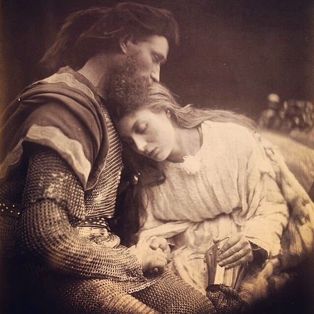 The Parting of Guinivere and Lancelot by Julia Margaret Cameron 1874