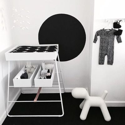 When your baby's room looks way cooler than anything else in the house ….. 🙌🏻👌🏻😊 #thankful @dancewithdirtyfeet 🙏🏻⭐️ #coolest #nursery in #town #lucky #baby #black #white #interior #designforkids #designforeveryone #changingTOWER #changingtable...