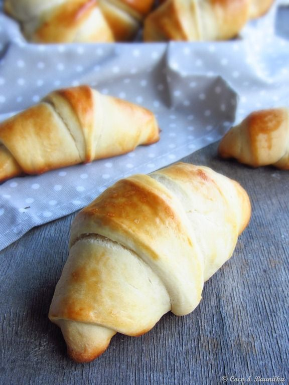Croissants (brioche)  Manual ou Máquina de pão