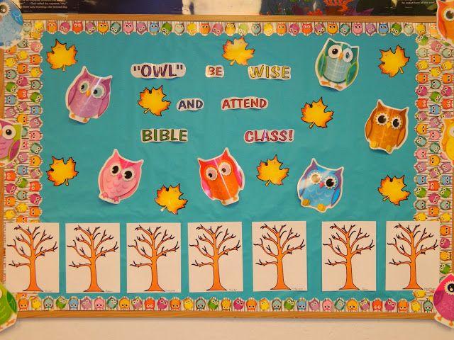 Hands On Bible Teacher: OWL Be WISE and ATTEND BIBLE Class. Attendance Chart/Bulletin Board
