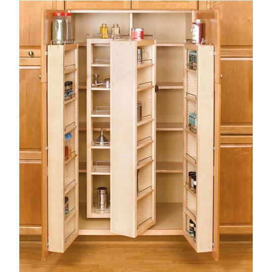 kitchen cabinet system 51 quot h pantry system additional view 3 center wood 19677