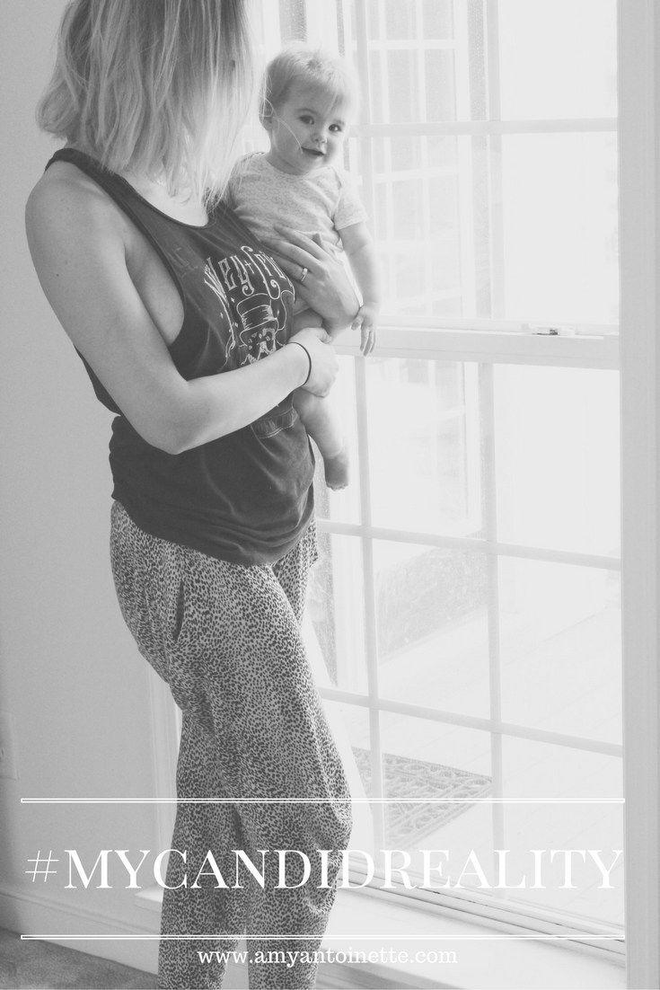 Instagram vs. Reality. Amy Antoinette motherhood blog - #mycandidreality