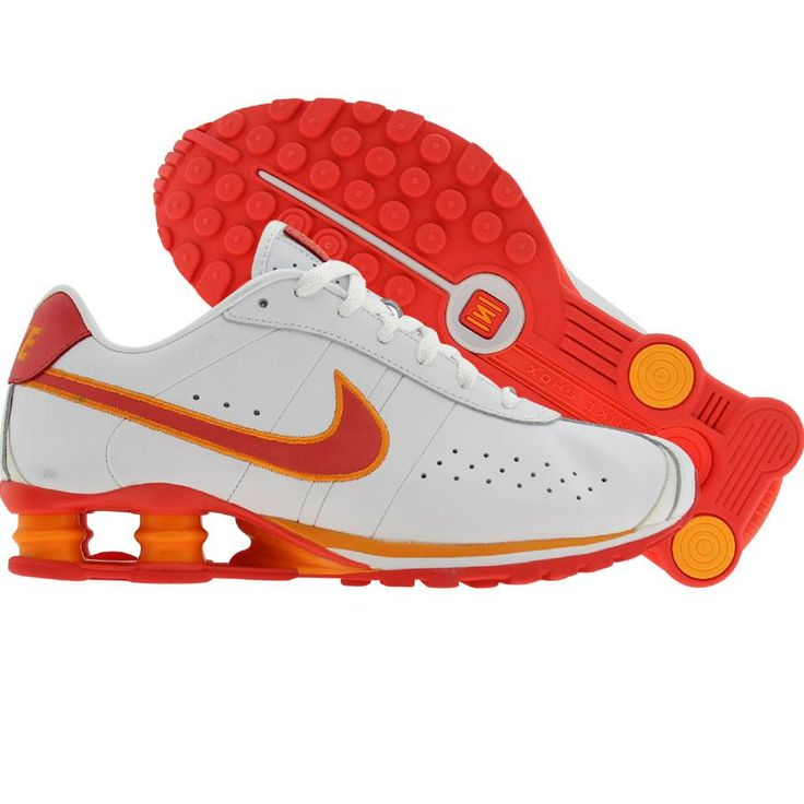 Nike Womens Nike Shox CL (white / coral / industrial orange) 309351-182 - $99.99