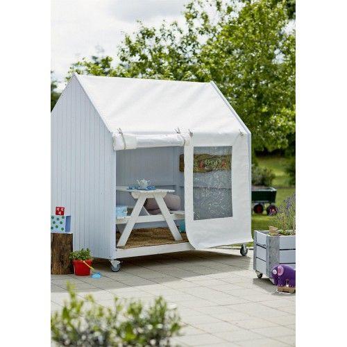 Plus Shelter på hjul 120x203x198cm med tag og front af kraftig polyester dug 16748-1