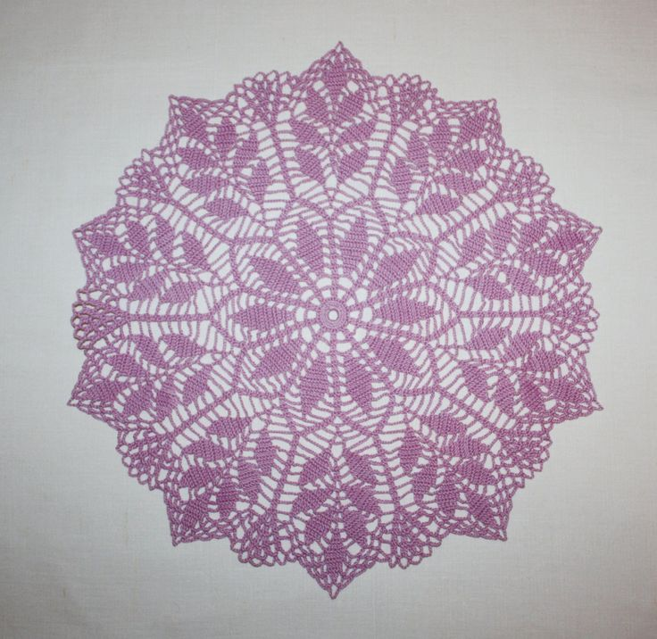 Purple Crochet Doily Round Doily Lace Doily Cotton Doily Flower Doily Table Topper 13 inches by HomeDecorByIryna on Etsy