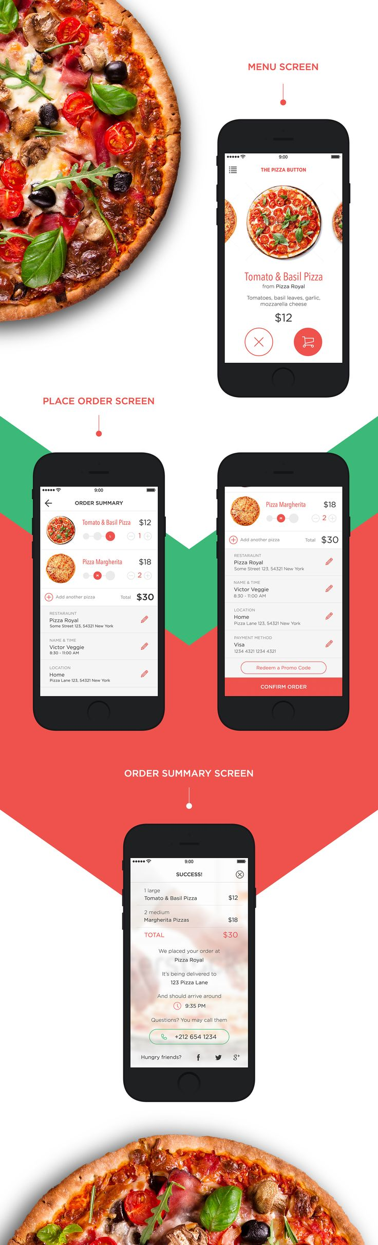 Pizza Delivery App on Behance