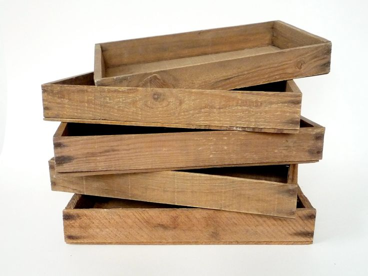 25 best vintage trays images on pinterest trays serving for Wooden fruit crates