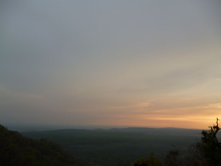 Sunset on the way to Nainital