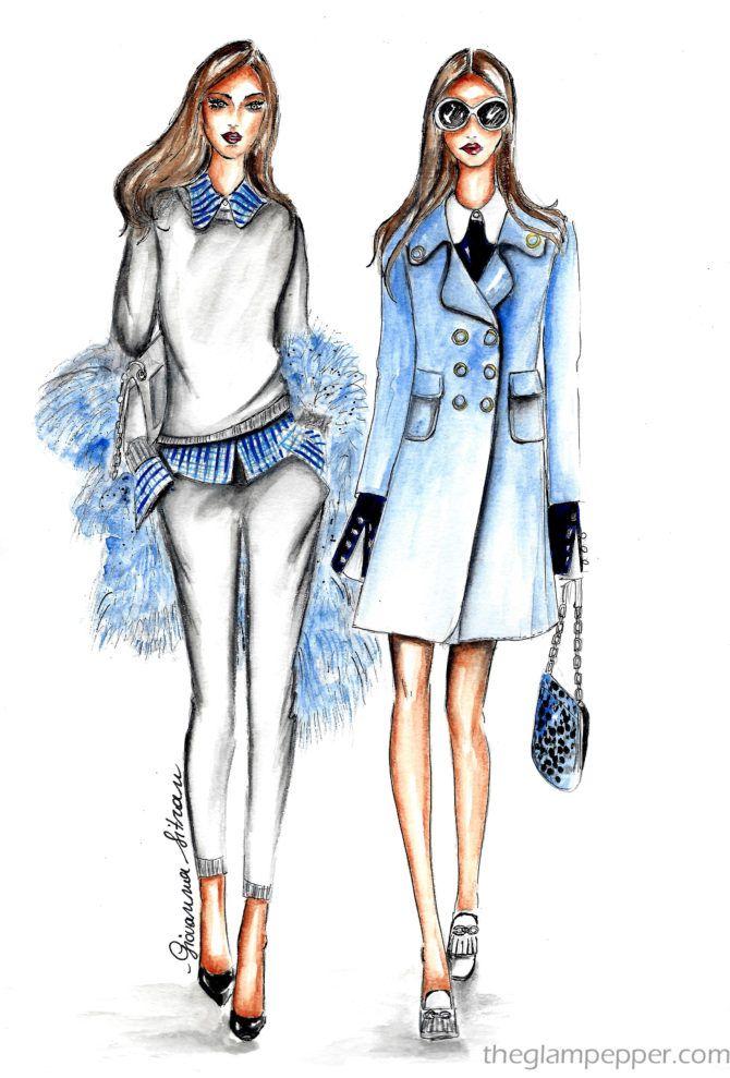 Fashion illustration| Michael Kors Fall/Winter 2016/17 | http://www.theglampepper.com/2016/10/27/fashion-illustration-michael-kors-fallwinter-201617/