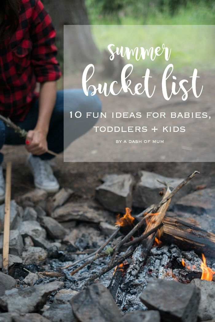 summer bucket list |10 fun things to do with two kids under three| A Dash Of Mum
