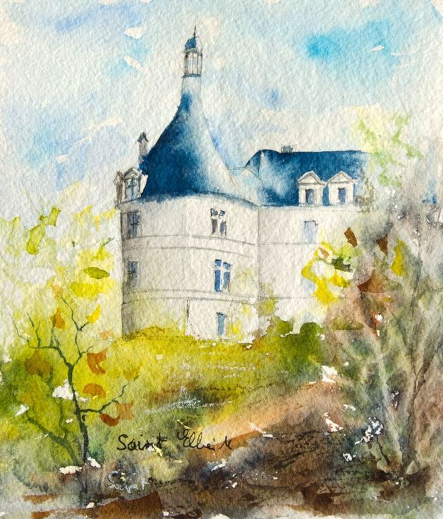 Buy Chambord Chateau Watercolor By Martine Saint Ellier On
