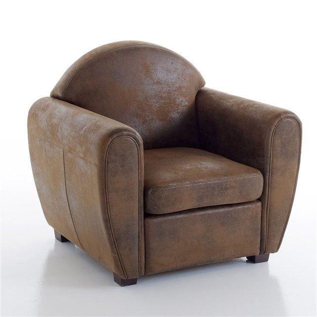 fauteuil club microfibre effet vieilli winconsin la redoute interieurs prix avis notation. Black Bedroom Furniture Sets. Home Design Ideas