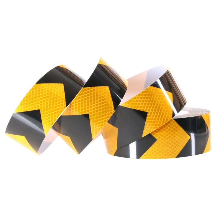 "Litape 2"" X 25 Yards Arrow Conspicuity Safety Tape, Yellow & Black High Reflective Tape/Reflector Tape/Hazard Tape/Warning Tape/Caution Tape For Trucks, Trailer, Vehicles, Cars"