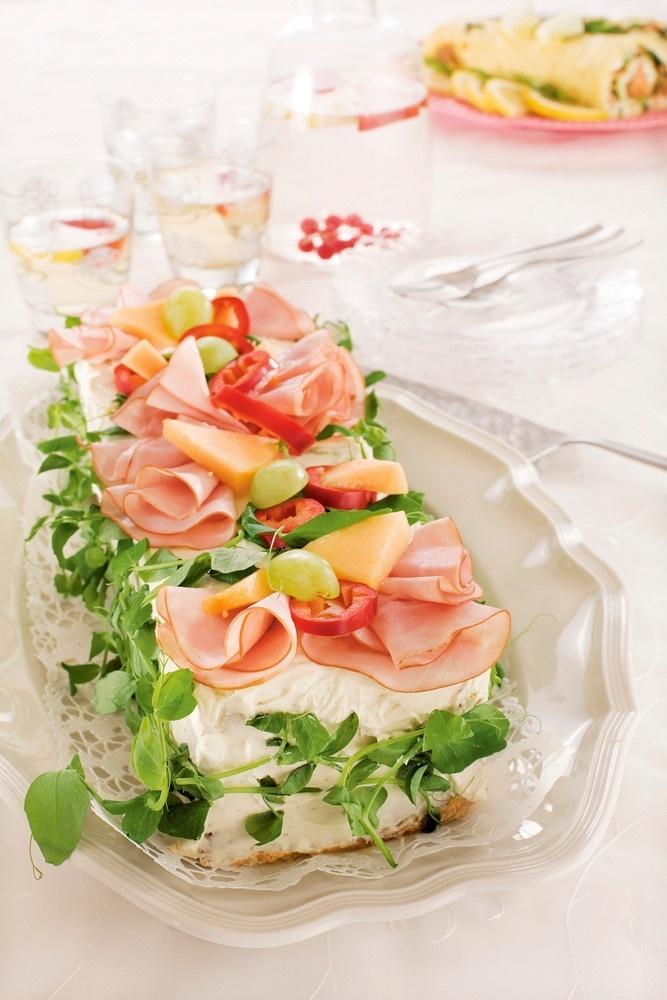 Kinkku-meloni-voileipäkakku   Kodin juhlat   Pirkka