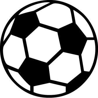 Soccer Ball template for thank you card!
