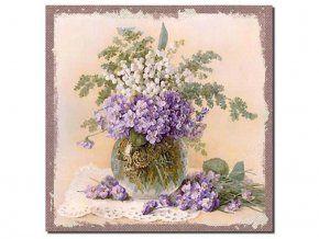 Obrázek fialky a konvalinky 38 x 38 cm