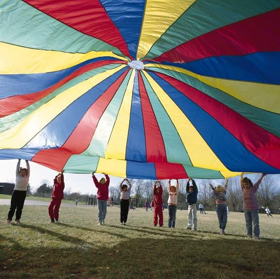 You Played With This Giant Rainbow Parachute In P E You
