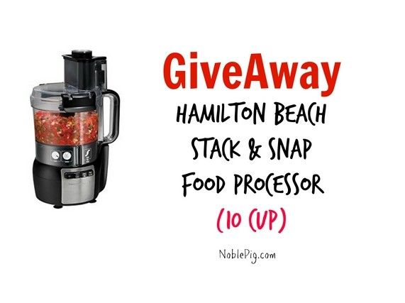 Giveaway Hamilton Beach Food Processor from The Noble Pig - http://noblepig.com/2014/12/giveaway-hamilton-processor/