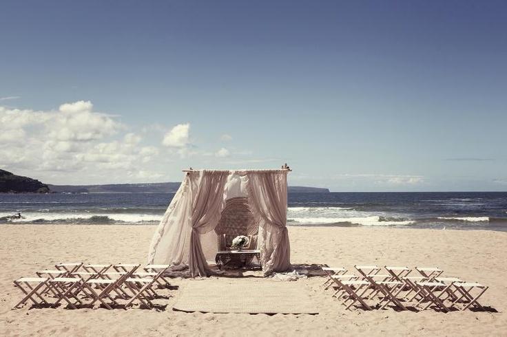 Decor Hire / Bohemian Beach Wedding Set Up / Sydney NSW
