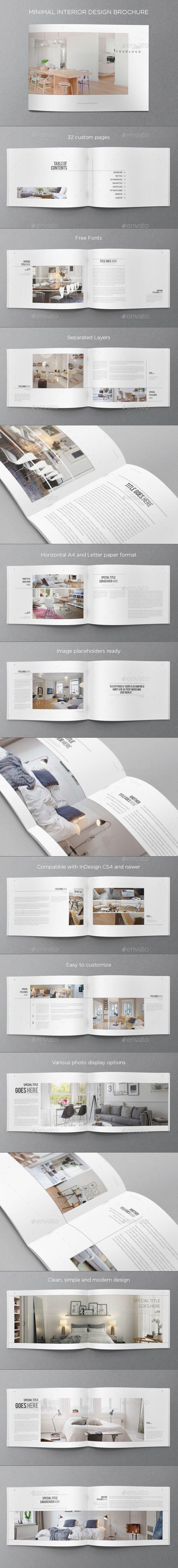Minimal Interior Design Brochure. Download here: graphicriver.net/... #design #brochure