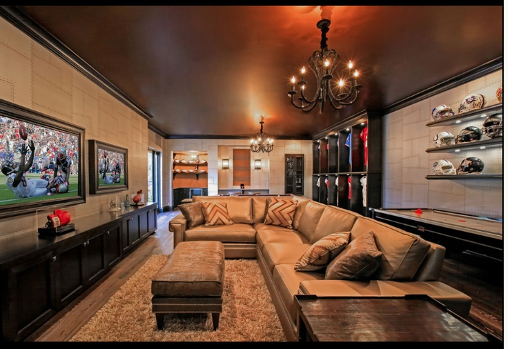 Another Tv Room Idea I Like Rectangle Shaped Space Also