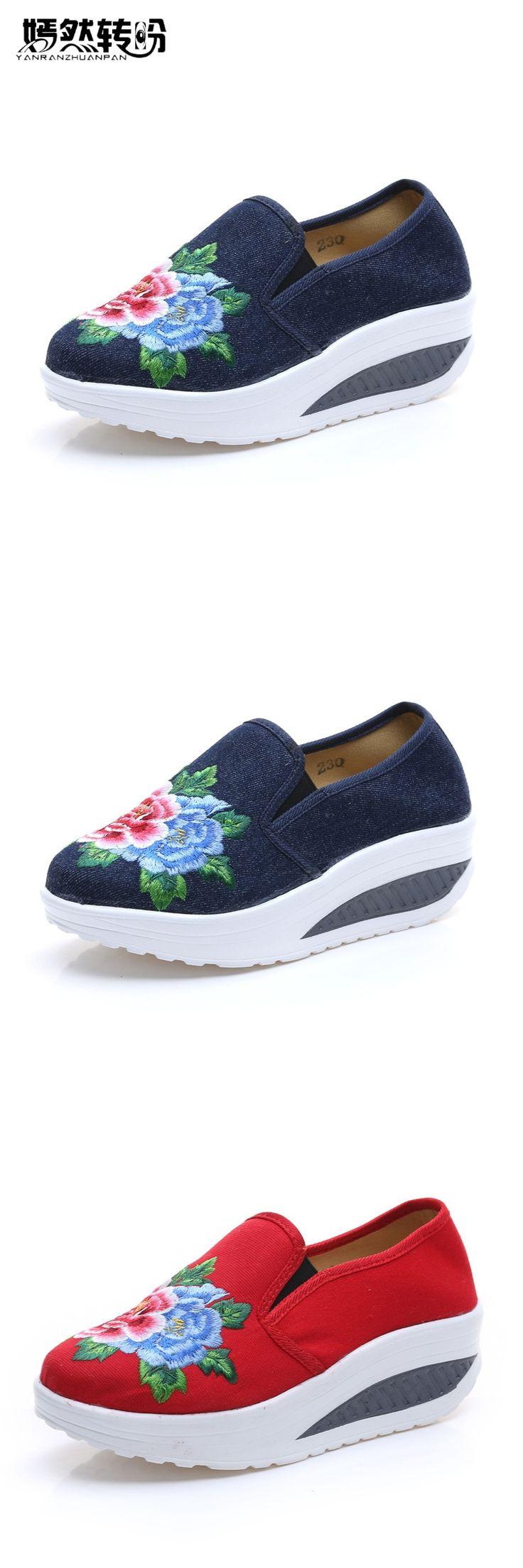 Vtota Women Flats Spring Autumn Shoes Woman Cotton Fabric Casual Shoes Woman Bre