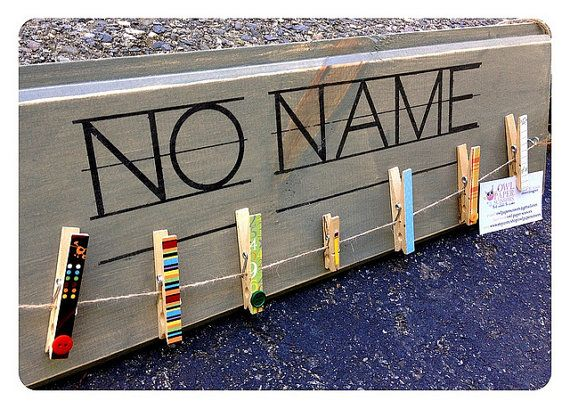 Teacher Classroom sign NO NAME with by owlpaperscissors on Etsy
