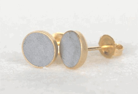 concrete dotsConcrete Dots, Cement Earrings, Gold Plates, Hadas Shaham, Shaham Dots, Dots Earrings, Jewelry, Products, Earrings Gold