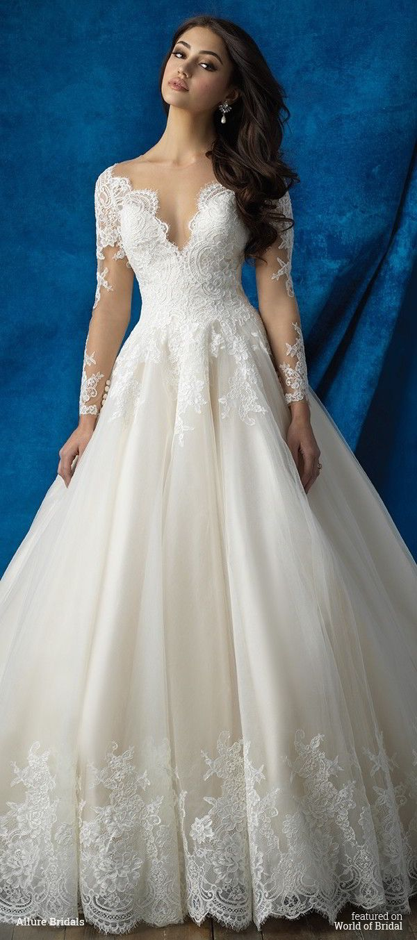 Drew inspiration from royalty to design this long sleeved ballgown.