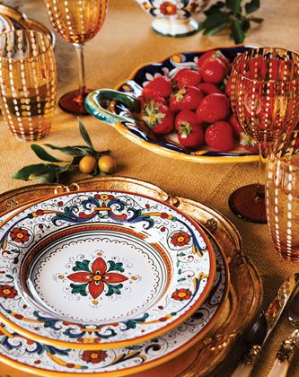 my favorite Italian Pottery pattern. . . umbria