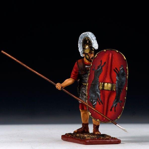 Roman Triari Holding Spear