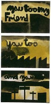 Colin McCahon - Auckland Art Gallery Imprisonment and Reprieve (triptych) 1978