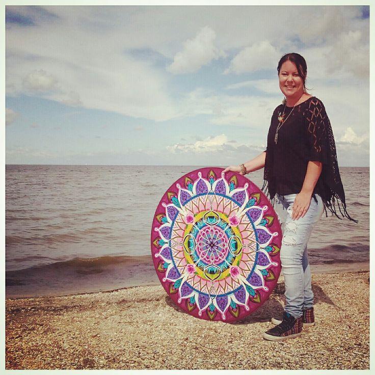 Mandala schilderij, Boho-energy-circle nmr 7 is handgeschilderd op hout en bewerkt met wat strassteentjes. Wel 100cm groot! Www.creativeartbyjessica.nl #boho #bohostyle #hippie #hippieart #bohochic #ibiza #ibizastyle #mandala #mandalas #mandalaart #yoga #meditation #welness #design #mindfulness #bohemian #happy #dreamcatcher #dromenvanger #spiritual #spirituality #reading #healing