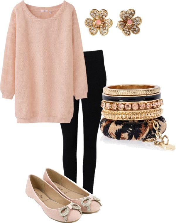 """""""#blush and #black comfy cute"""" by lildill26 on Polyvore"""