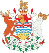 The original COA of British Columbia, also known as the Arms of Her Majesty in right of British Columbia, was granted to BC by a Royal Warrant of King Edward VII on 31 March 1906. A banner of arms comprises the provincial flag. The first heraldic provincial symbol was the Great Seal of the province, being the royal crest of the crowned lion upon the imperial crown as was the usual practice for British colonies