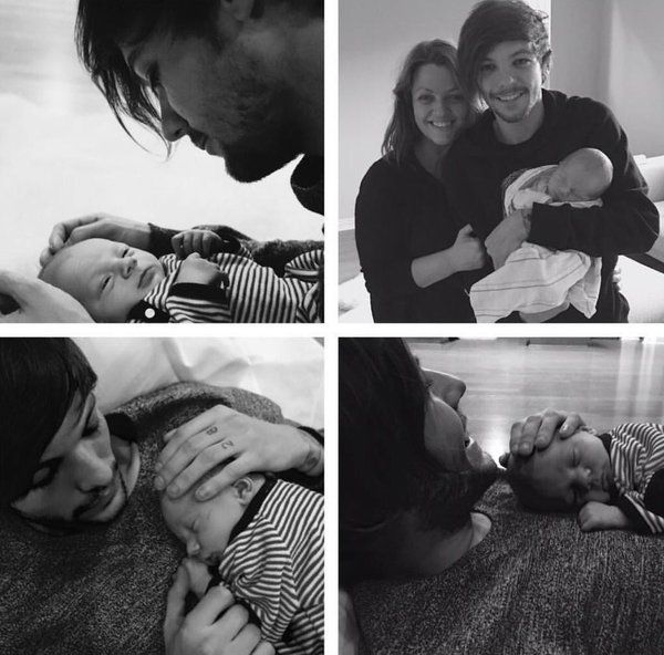 Louis with his baby and mom